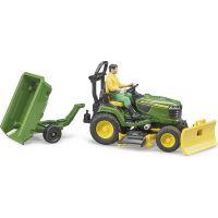 Bruder 62104 Záhradný traktorček J.Deere s príslušenstvom a figúrkou 3