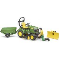 Bruder 62104 Záhradný traktorček J.Deere s príslušenstvom a figúrkou 5