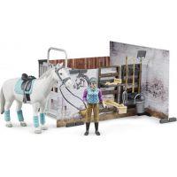 Bruder 62506 Bworld príslušenstvo ustajnenie pre kone s jazdkyňou