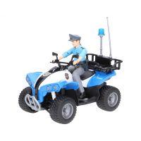 Bruder 63010 Policajné štvorkolka s figúrkou policajtmi