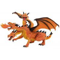 Bullyland 2075548 Drak trojhlavý oranžový