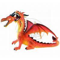 Bullyland 2075598 Drak dvouhlavý oranžový