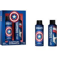 Captain America tělový sprej 200 ml, sprchový gel 250 ml - Poškodený obal