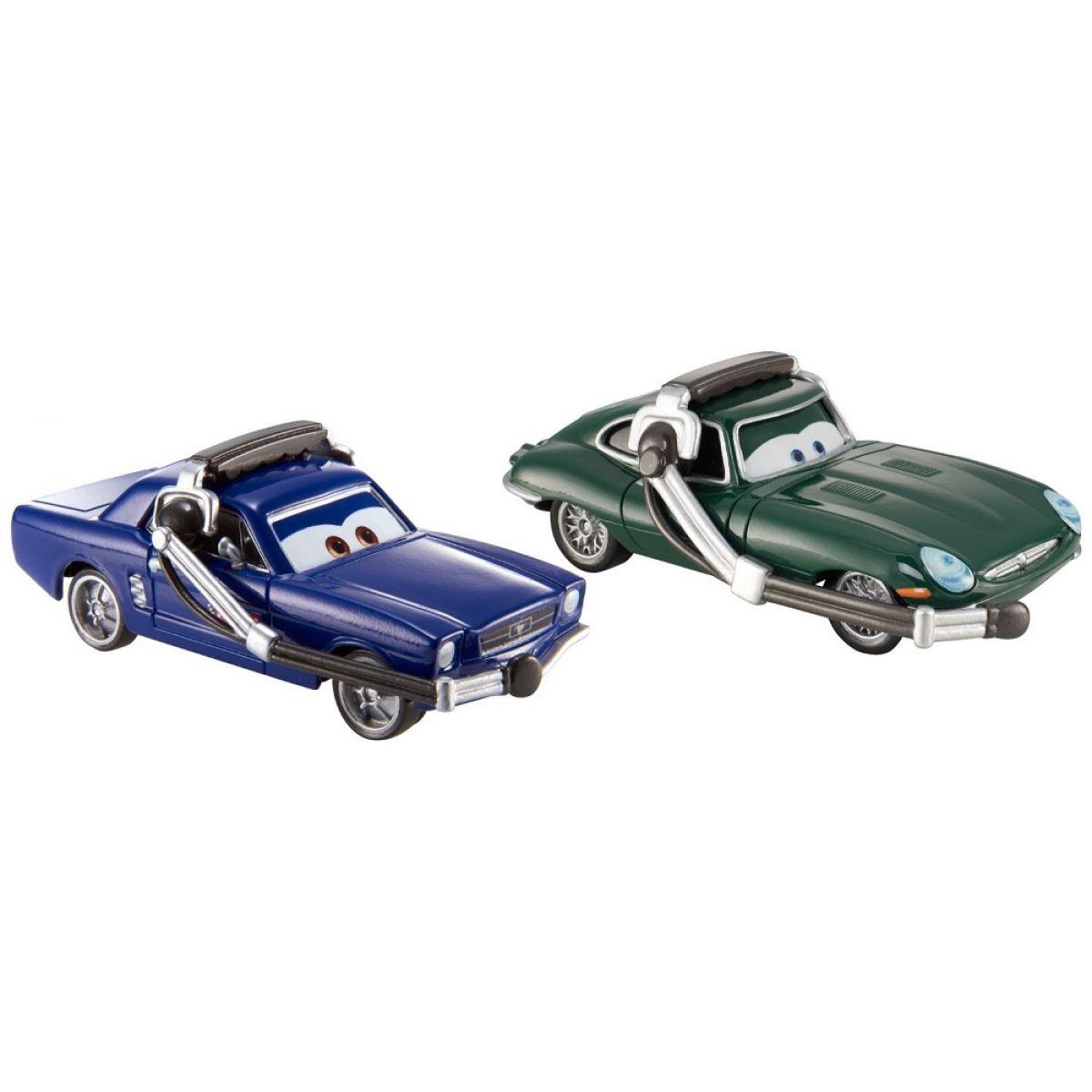 Mattel Cars 2 autíčka 2ks Y0506 Brent MustangBurger a David Hobbscapp