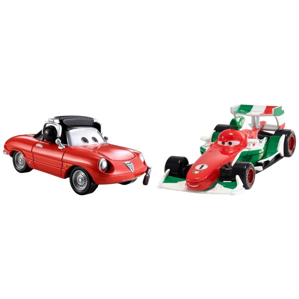 Mattel Cars 2 Autíčka 2ks - Francesco Bernoulli a Giuseppe Motorosi