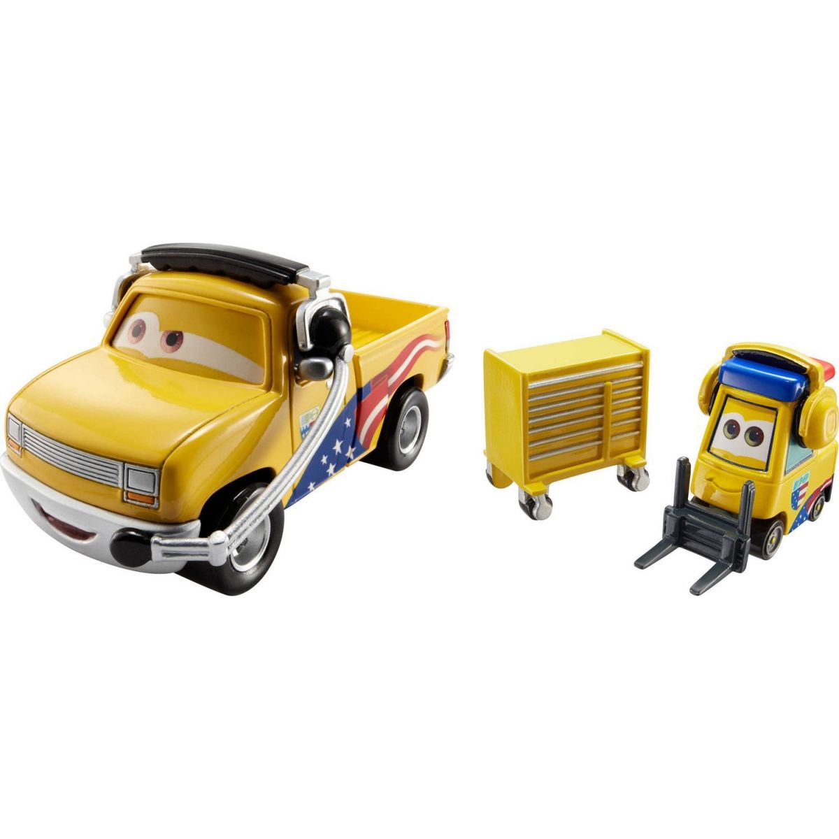 Mattel Cars 2 Autíčka 2ks Jeff Gorvette Pitty a John Lassetire
