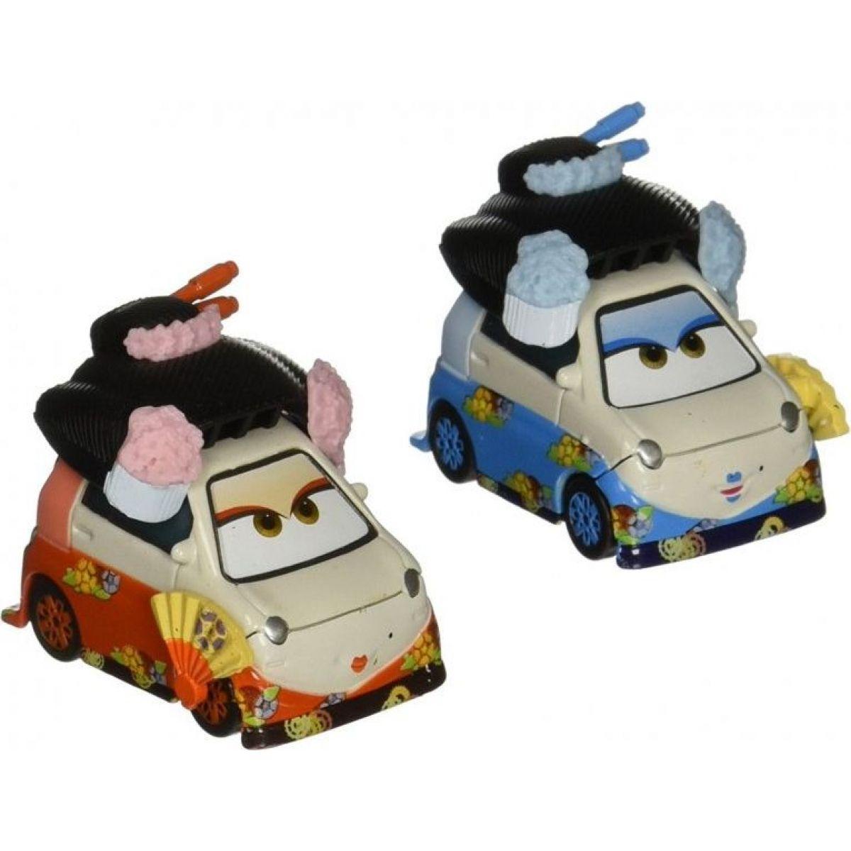 Mattel Cars 2 autíčka 2ks Y0506 Okuni a Shigeko