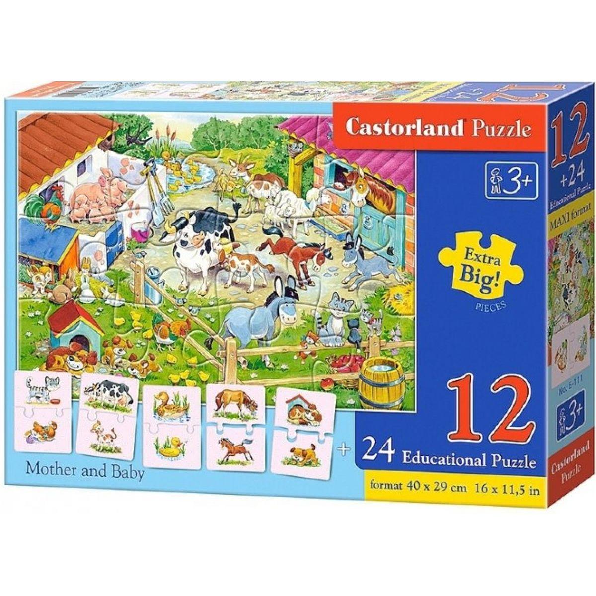 Castorland Puzzle 12 dielikov a 24 puzzlí do páru