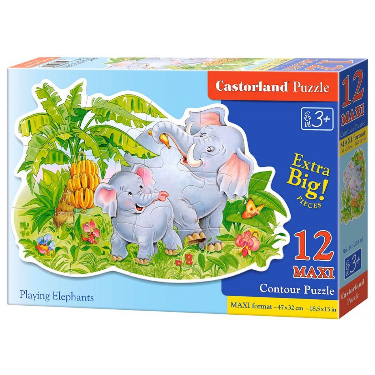Castorland Puzzle 12 Maxi Slony