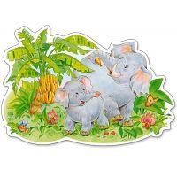 Castorland Puzzle 12 Maxi Slony 2