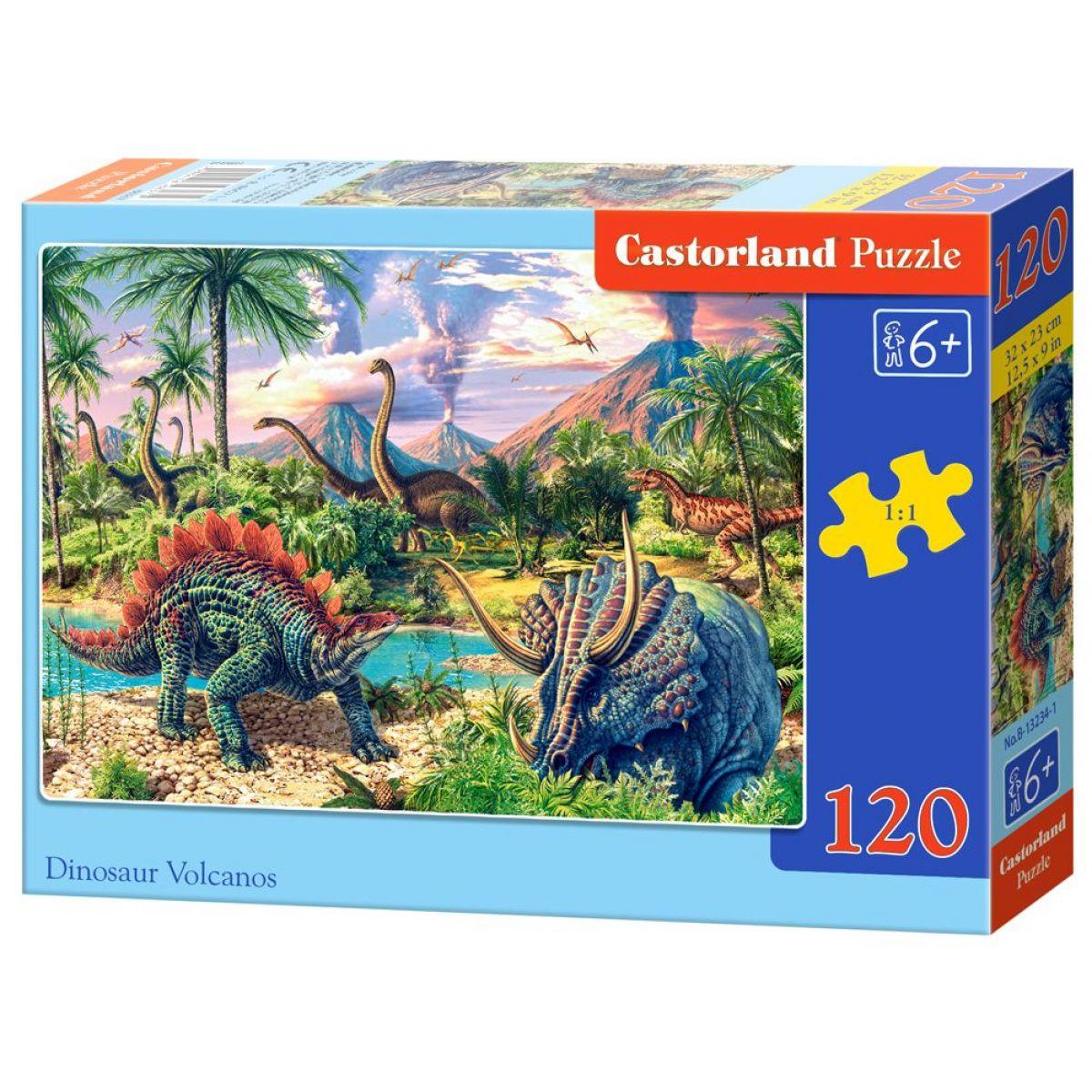 Castorland Puzzle 120 dielikov Dinosaurské vulkány