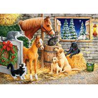 Castorland Puzzle 120 dielikov Stretnutie priateľov v stajni 2