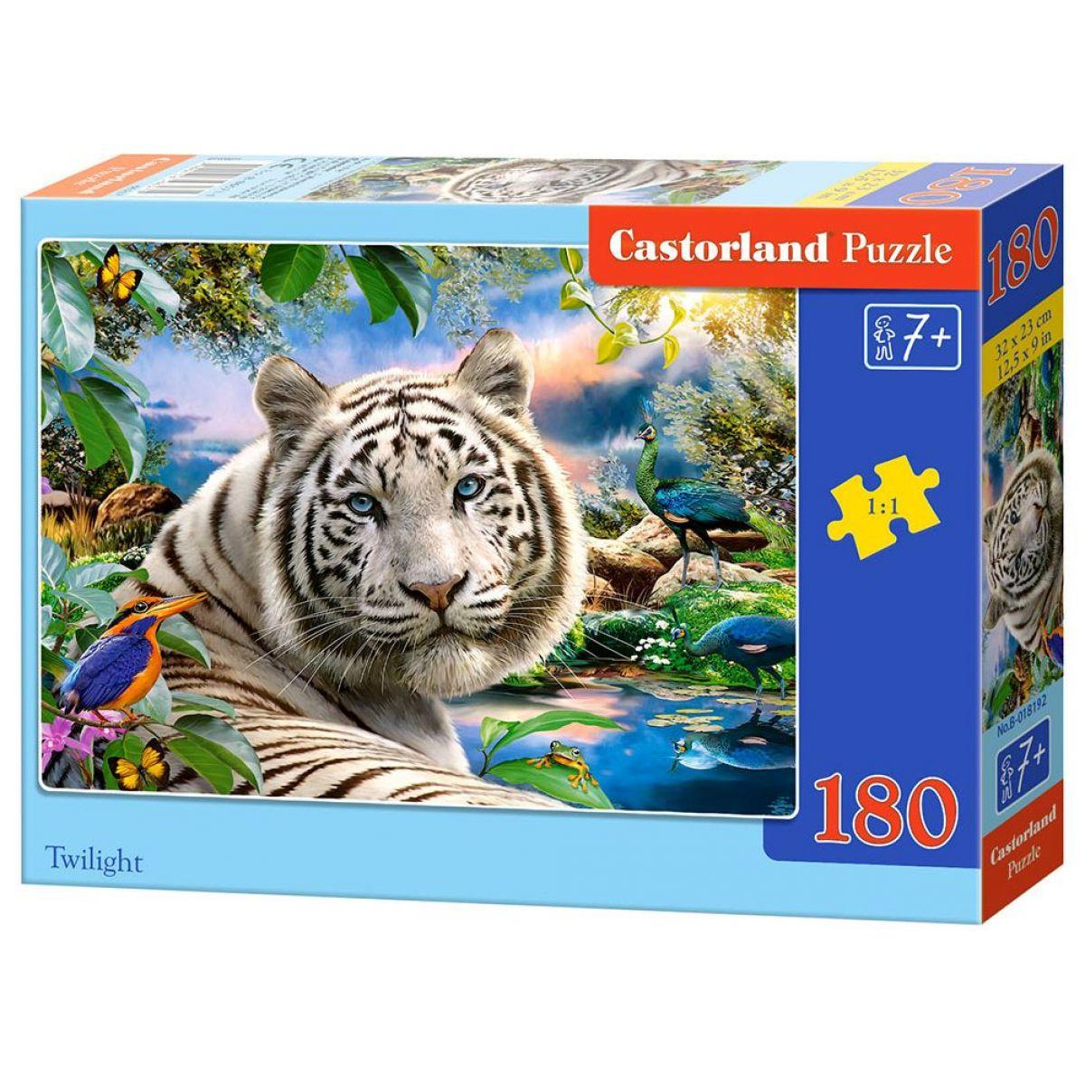 Castorland Puzzle 180 dielikov Biely tiger za súmraku