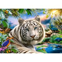 Castorland Puzzle 180 dielikov Biely tiger za súmraku 2