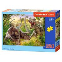 Castorland Puzzle 180 dílků Dinosauří bitva