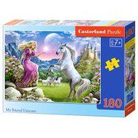 Castorland Puzzle 180 dílků Můj přítel jednorožec
