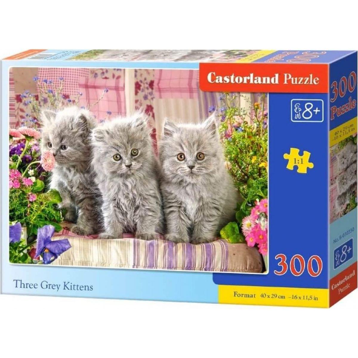 Castorland Puzzle 300 dielikov Tri šedivá mačiatka