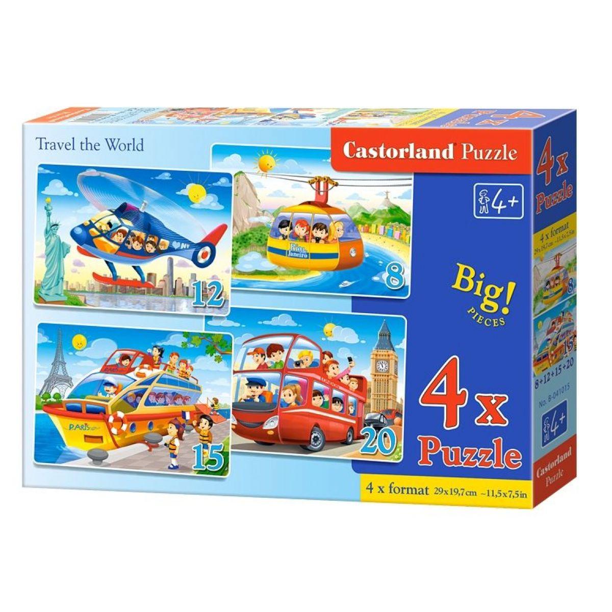 Castorland Puzzle 4 v 1 Cestovanie po svete