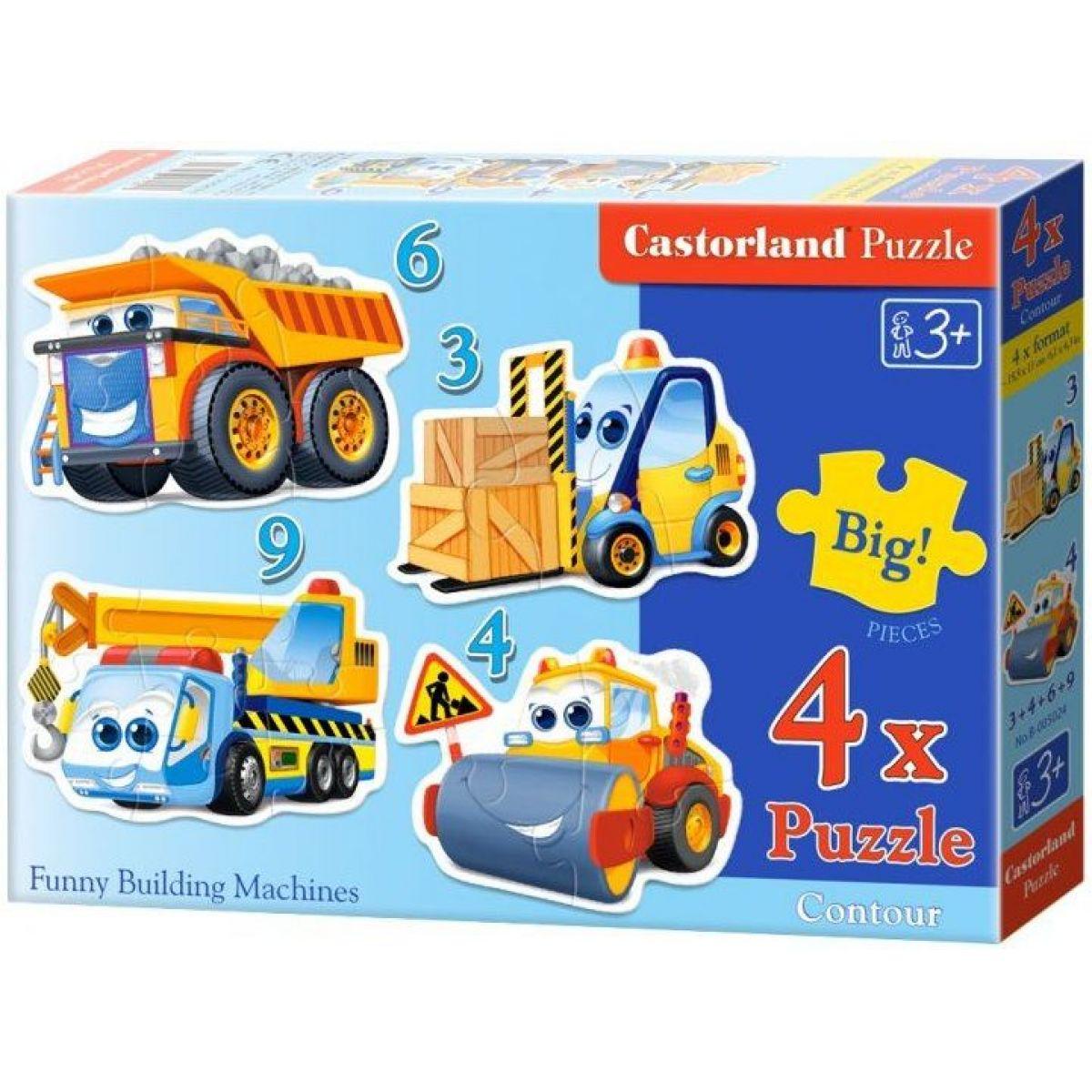 Castorland Puzzle Doprava 4 v 1 mini