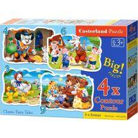Castorland Puzzle Pohádky 4 v 1 mini