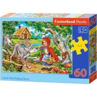 Castorland Puzzle Červená karkulka s vlkem 60 dílků