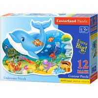 Castorland Puzzle Delfín a jeho kamarádi 12 maxi dílků