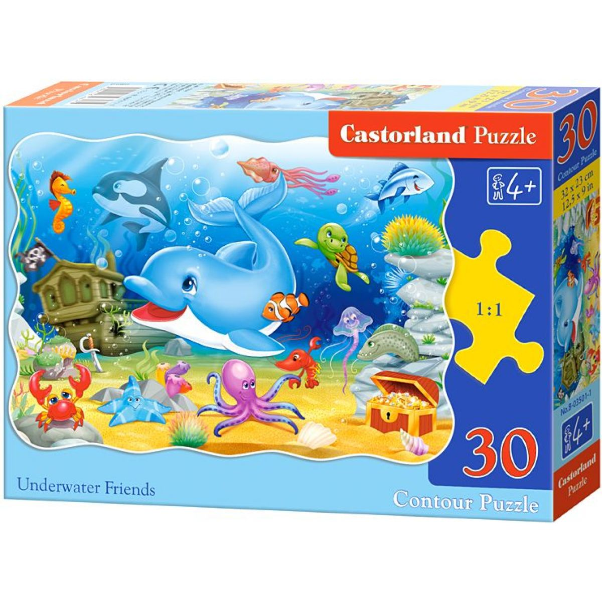Castorland Puzzle Delfín a jeho kamaráti 30 dielikov
