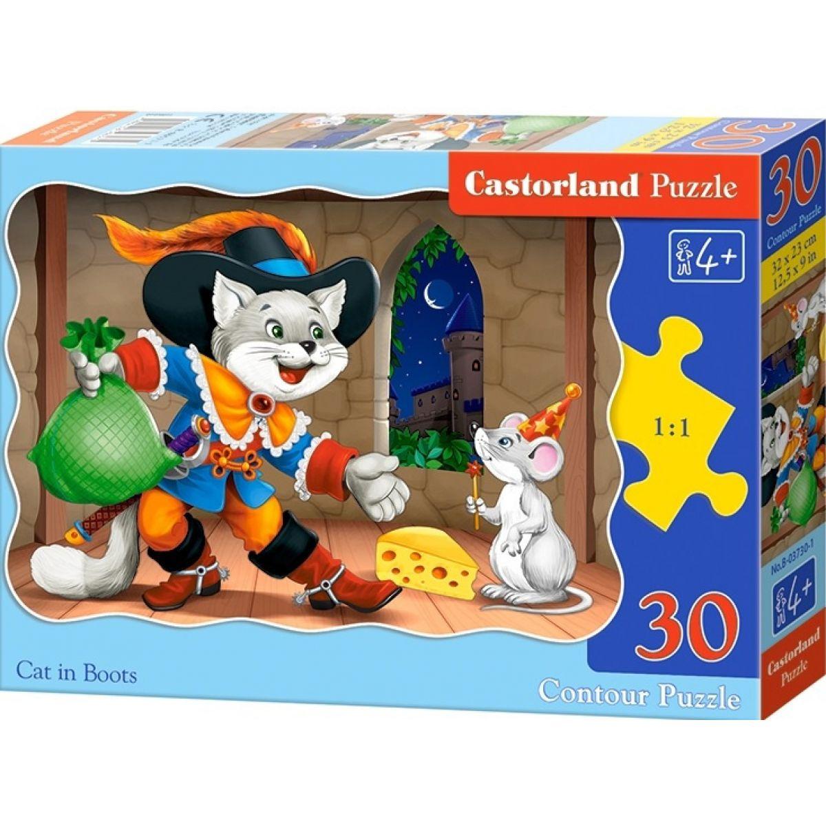Castorland Puzzle Kocúr v čižmách 30 dielikov