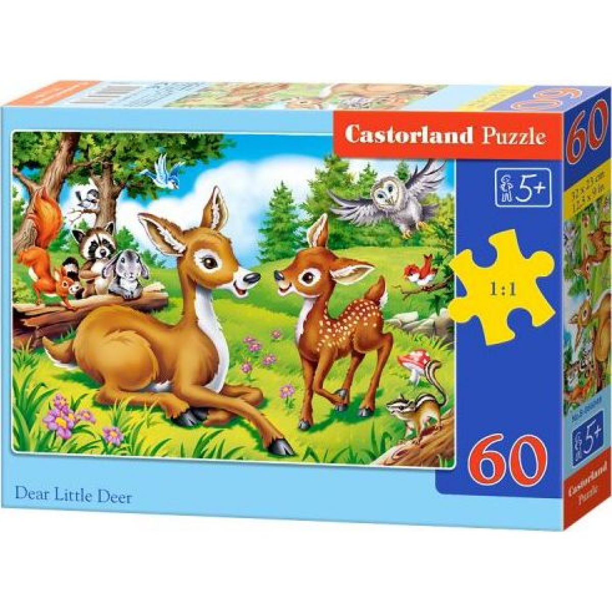 Castorland Puzzle Koloušek s mamičkou 60 dielikov