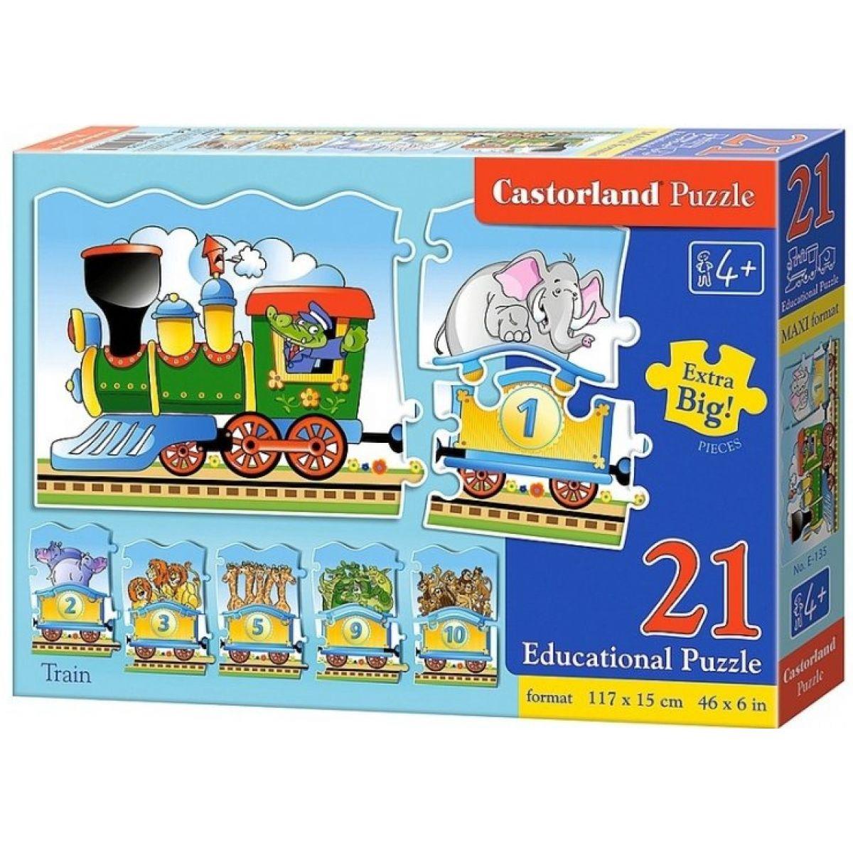 Castorland Puzzle Mašinka 21 dielikov