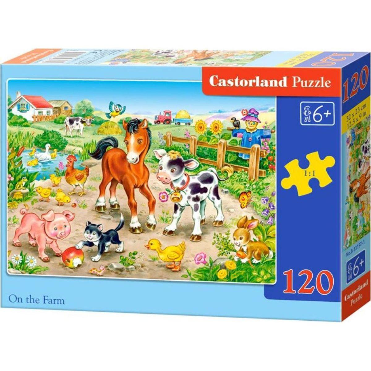 Castorland Puzzle Na farma 120 dielikov