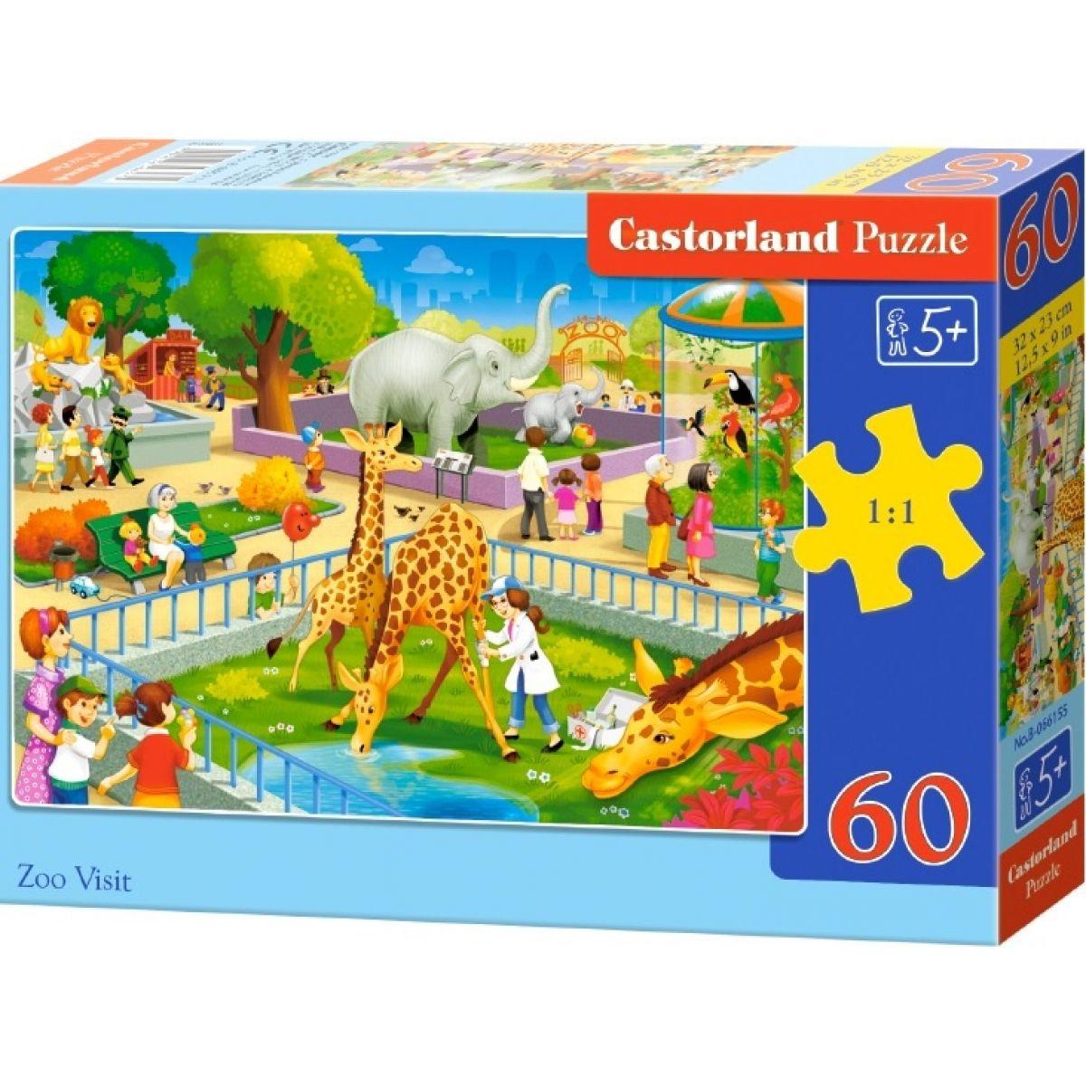 Castorland Puzzle Návšteva v ZOO 60 dielikov