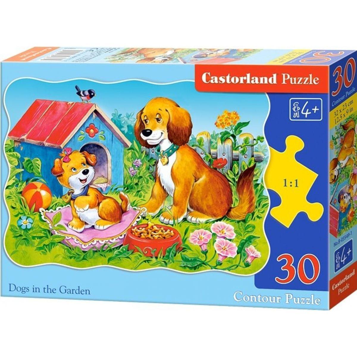 Castorland Puzzle Psíci na záhrade 30 dielikov