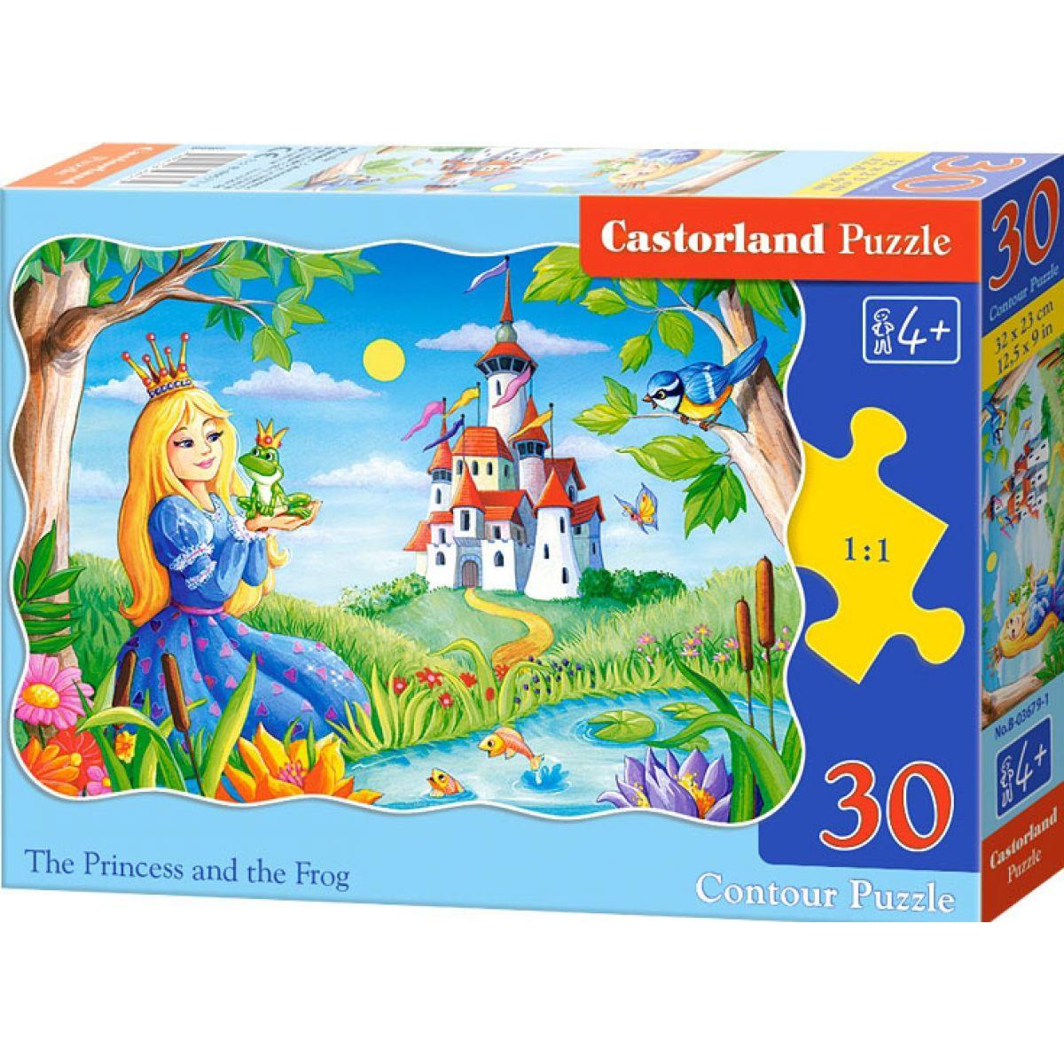 Castorland Puzzle Princezná s žabiak 30 dielikov