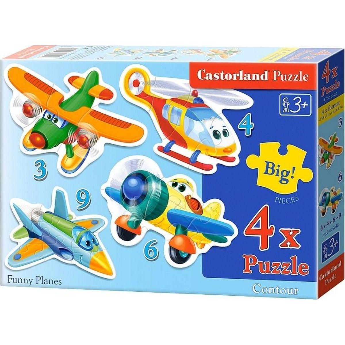 Castorland Puzzle 4 v 1 mini Lietadlá