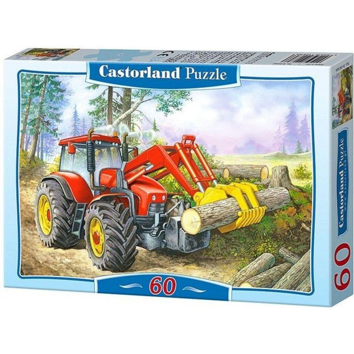 Castorland Puzzle Traktor nakladač 60 dielikov