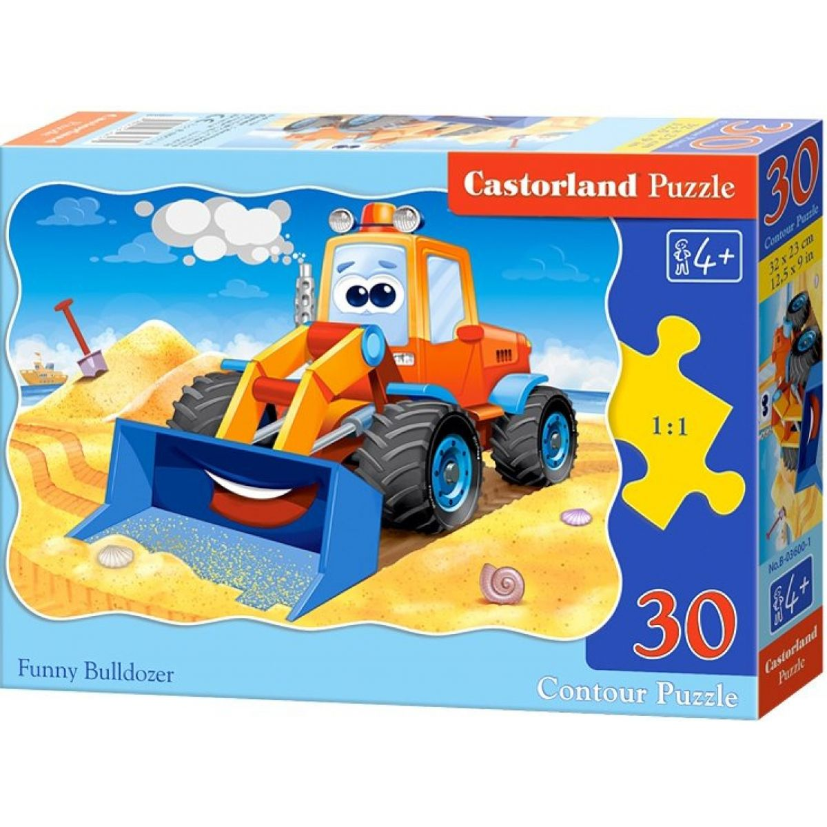Castorland Puzzle Veselý buldozér 30 dielikov