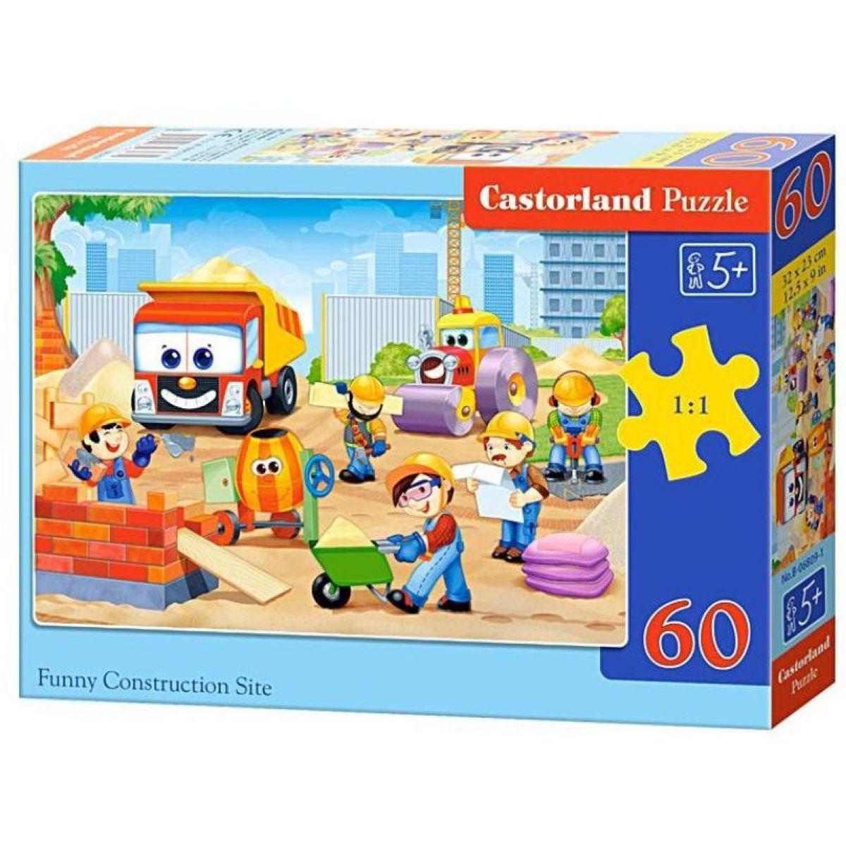 Castorland Puzzle Zábavné staveniska 60 dielikov