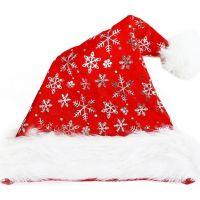Rappa čiapka vianočná strieborné vločky 40 cm