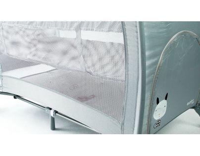 Cestovná postieľka Complet Grey Nordic závesné dno, hrazda, zips a prebaľovací pult