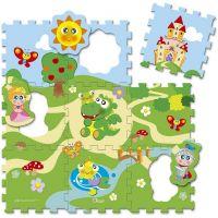 Chicco penové puzzle 30x30cm hrad 9 ks