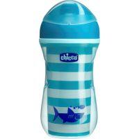 Chicco Hrneček Aktivní termo s hubičkou 266 ml modrý potisk