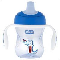 Chicco Hrneček Trénujeme s držadly 200 ml modrý