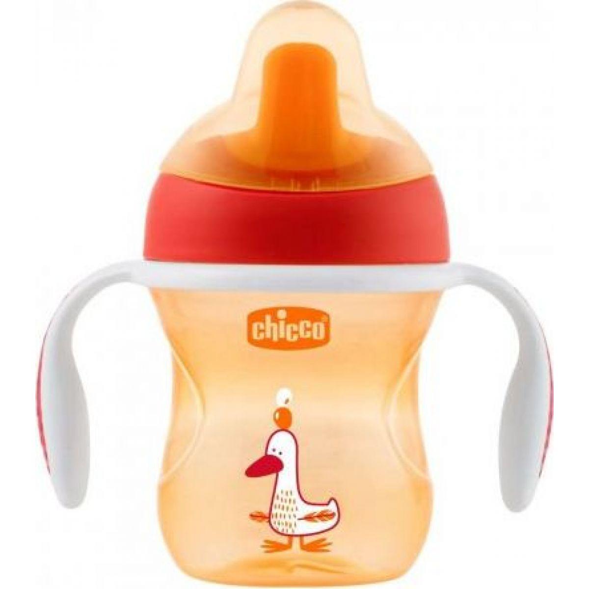Chicco Hrnček Trénujeme s držadlami 200 ml oranžový