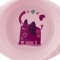 Chicco Jedálenská sada tanier a miska ružová 4