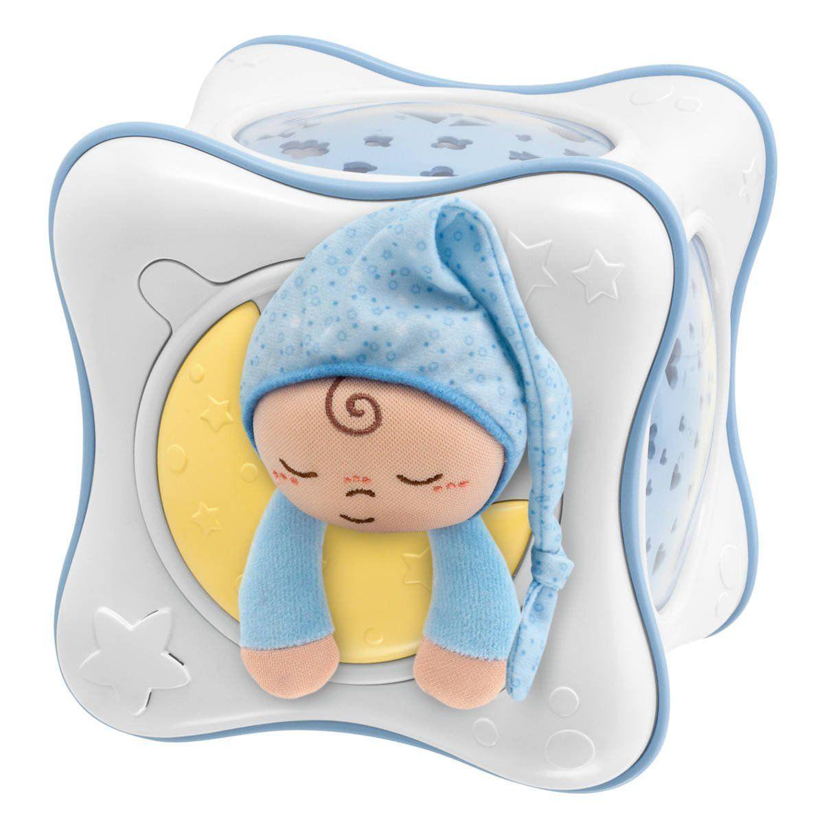 Chicco Projektor dúhová kocka modrá