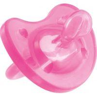 Celosilikónový cumlík Physio Soft ružový 4m+