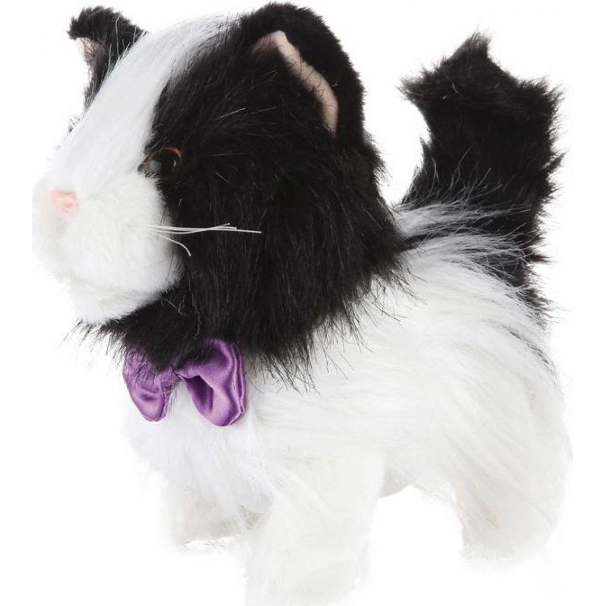 HM Studio Chodící kočička Mourek černobílá