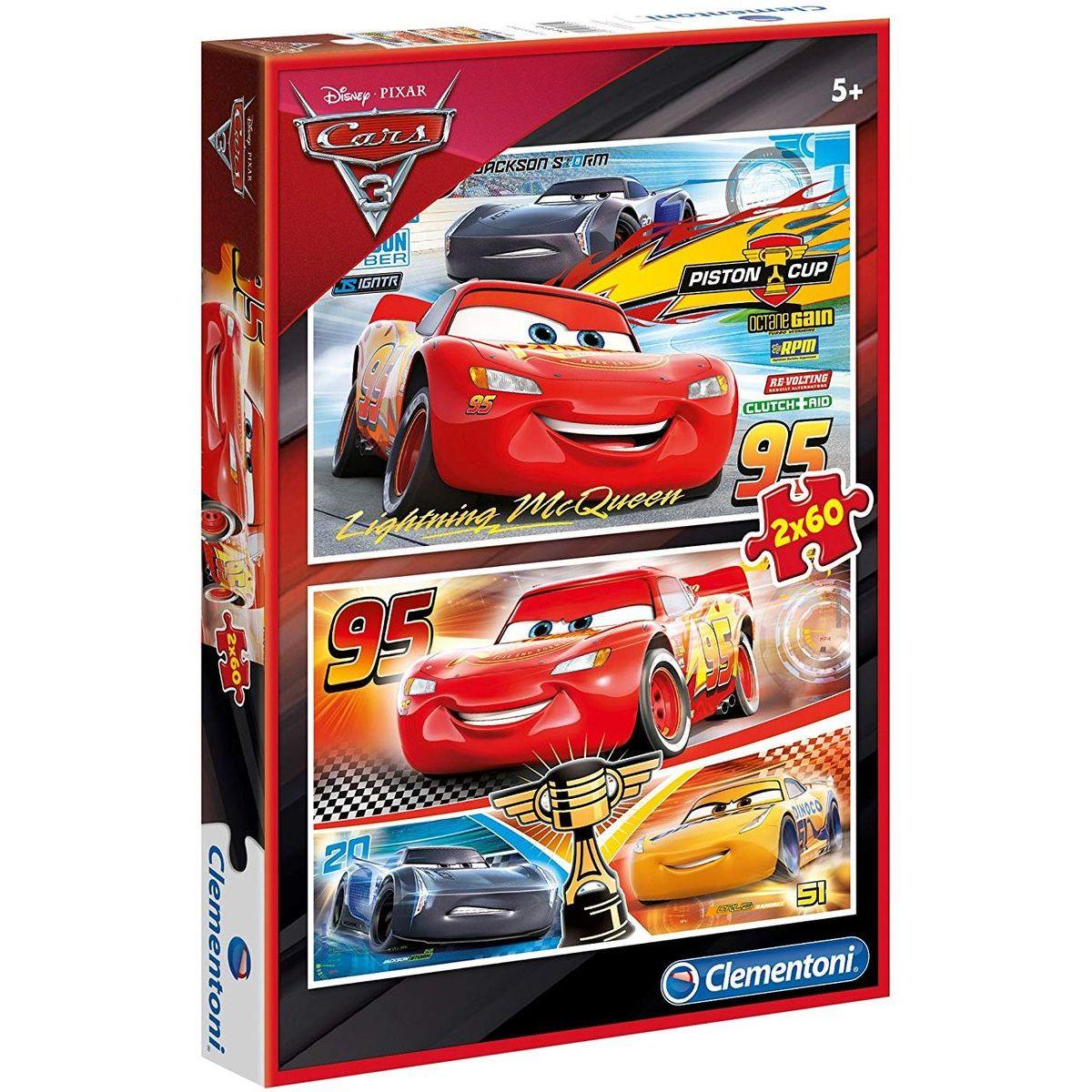 Clementoni Cars Puzzle 2 x 60 dielikov