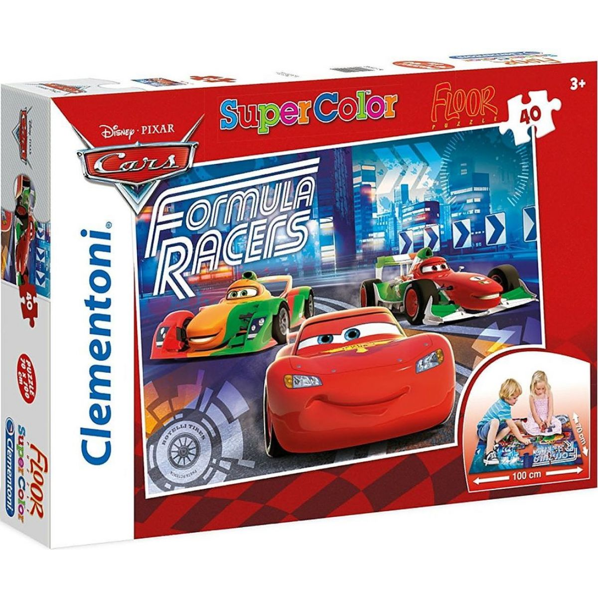 Clementoni 40 dílků SUPER KOLOR Cars 25442
